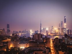 Cityscape emblematic of China's economic growth