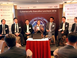 """Panelists at the Hong Kong Institute of Bankers' """"Contributing Your Enterprises' Digital Transformation"""" luncheon"""