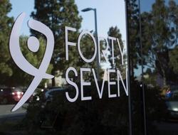 Forty Seven logo on window