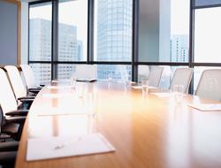 Empty boardroom