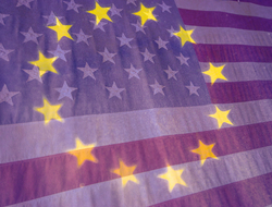 EU USA flags