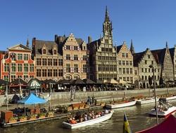 Ghent, Belgium riverfront