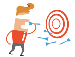 Businessman and Target/Bullseye image