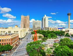 San Antonio, Texas, USA downtown skyline