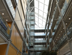 The atrium of the Wellcome Trust's headquarters