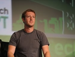 Facebook Founder and CEO Mark Zuckerberg speaks during the TechCrunch Conference at SF Design Center on Sept. 11, 2012 in San Francisco. (Photo by C Flanigan/WireImage)