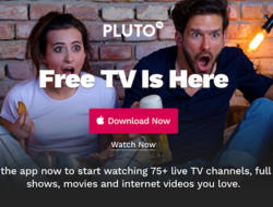 Pluto TV screen shot