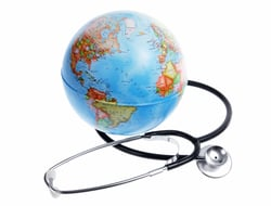 Stethoscope and globe