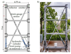 A camera-based method can detect small displacements in high-rise buildings, bridges and other large structures with the aim of adapting these structures to external forces.