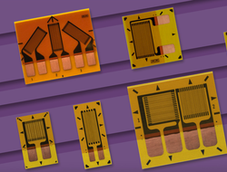 Vishay's CHA series of humidity-resistant strain gauge sensors in encased in protective encapsulation film with enhanced moisture protection.