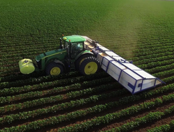 John Deere used technology acquired by Blue River Technology to develop a weed control system that precisely dispenses herbicides to reduce pesticide use and improve environmental quality.