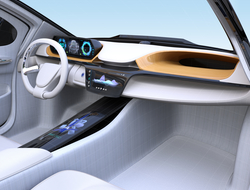 Automotive display futuristic free form format