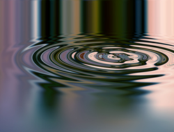 Water ripple effect