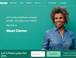 screenshot of Clover Health website