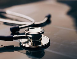 A physician's stethoscope