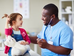 A pediatrician and his patient