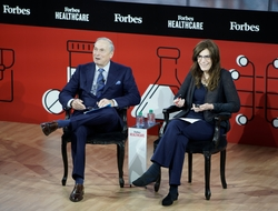 Judy Faulkner being interviewed at Forbes Healthcare Summit 2019