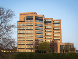 The outside of UnitedHealth Group's headquarters