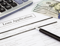 Loan application and pen