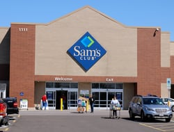 The front entrance of a Sam's Club store