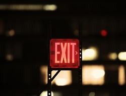 Red Exit sign