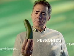 Endo TV ad still for Peyronie's disease awareness