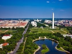 Washington D.C. skyline featuring Washington monument