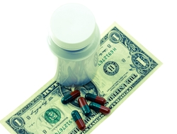 Drug prices healthcare costs pill money