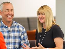 Sandoz executives Mike Fraser and Carol Lynch