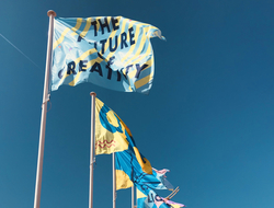 Flags flying outside Cannes Lions 2019