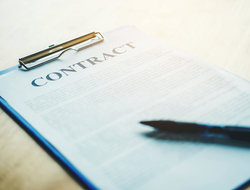 Pen on a business contract
