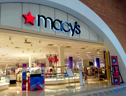 Macy's storefront facing a shopping mall