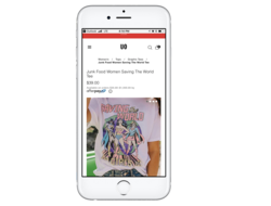 Urban Outfitters Afterpay mobile app