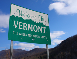 "sign that says ""welcome to vermont"""