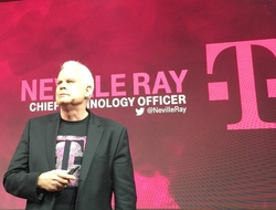 T-Mobile CTO Neville Ray at MWC (Mike Dano/FierceWireless)