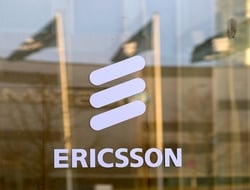 Ericsson logo on building