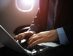 airplane laptop