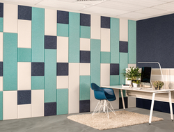 EchoPanel Balance tiles are modular acoustic tiles created by Woven Image and distributed in North America by Kirei.