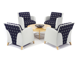Eko Contract launched the Reed lounge series, which includes a lounge, loveseat and sofa.
