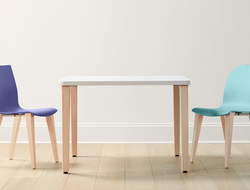 Leland International launched the Quince collection, which includes chairs and tables.