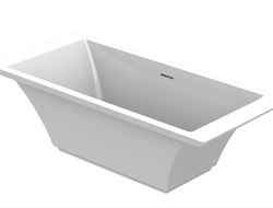 GRAFF expanded its Finezza faucet collection to include a coordinating sink and bathtub.