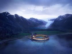 Snøhetta designs UFO-shaped Svart hotel in Norway's Arctic Circle.