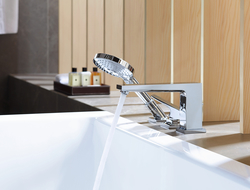 The collection includes three different lavatory faucet heights, as well as different handles, spout heights and configurations.