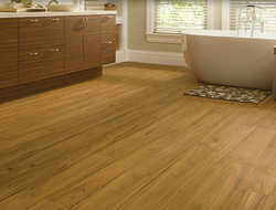 Armstrong Luxe Plank flooring is a waterproof, scratch-resistant alternative to real wood and tile flooring.