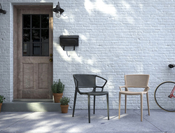 Constructed of fiberglass-filled polypropylene, Florette's features include a weather-resistant non-fading finish, choice of arm or arm-less models, and a perforated seat and back.