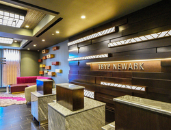 Created by Blanche Garcia, the hotel's interior celebrates the history of Newark City.