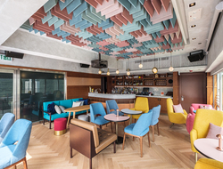 Studio HBA refreshes social spaces of Ovolo Southside in Hong Kong.