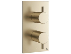 Bathroom company Crosswater London introduced two new finishes, brushed brass and matte black, to its MPRO line of bath fittings .