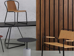 m.a.d. design worked with manufacturer Nuans to launch two hospitality pieces: the Sling chair and Trace lounge.