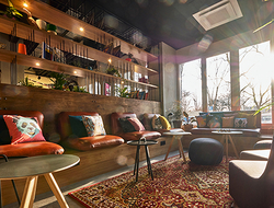 JOI-Design crafts Moxy Berlin Humboldthain Park hotel with a laidback aesthetic.